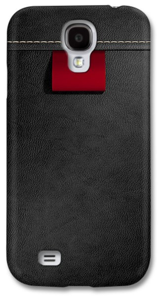 Stitch Galaxy S4 Cases - Broad Clothing Label In Black Leather Galaxy S4 Case by Allan Swart