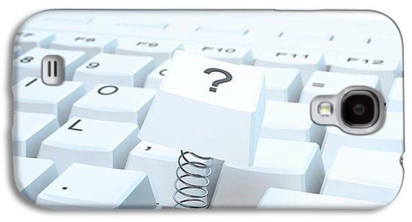 Broken Computer Keyboard Galaxy S4 Case by Andrzej Wojcicki