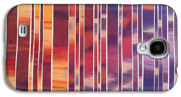 Sunset Abstract Pastels Galaxy S4 Cases - Broken Sunset Galaxy S4 Case by Jessica  Erickson