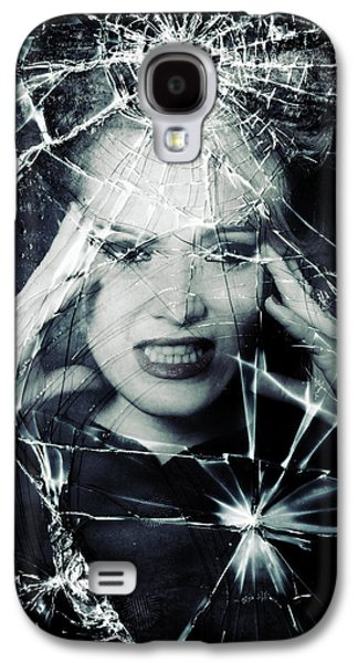 Creepy Galaxy S4 Cases - Broken Window Galaxy S4 Case by Joana Kruse