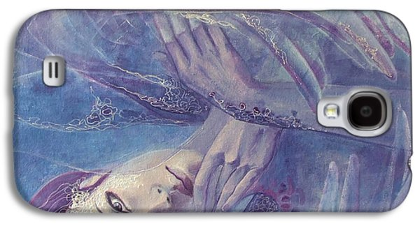 Fate Paintings Galaxy S4 Cases - Broken wings Galaxy S4 Case by Dorina  Costras