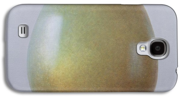 Bronze Galaxy S4 Cases - Bronze Age Egg Acrylic On Canvas Galaxy S4 Case by Lincoln Seligman