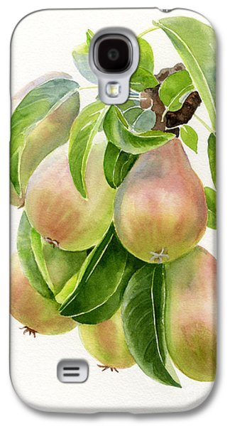 Bronze Galaxy S4 Cases - Bronze Pears with white background Galaxy S4 Case by Sharon Freeman