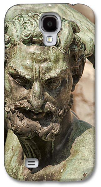 Statue Portrait Galaxy S4 Cases - Bronze Satyr in the Fountain of Neptune of Florence Galaxy S4 Case by Melany Sarafis