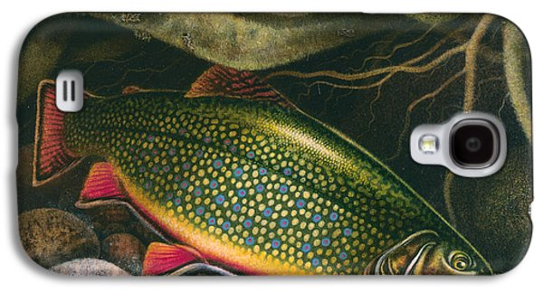 Flyfishing Galaxy S4 Cases - Brook Trout Lair Galaxy S4 Case by JQ Licensing