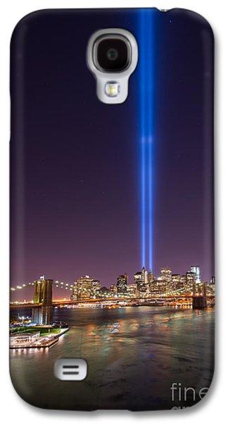 Manhatan Galaxy S4 Cases - Brooklyn Bridge 911 Vertical Galaxy S4 Case by Michael Ver Sprill