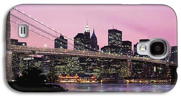 Building Exterior Galaxy S4 Cases - Brooklyn Bridge Across The East River Galaxy S4 Case by Panoramic Images
