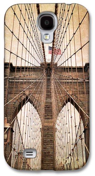 Brooklyn Bridge Digital Galaxy S4 Cases - Brooklyn Bridge Approach Galaxy S4 Case by Jessica Jenney