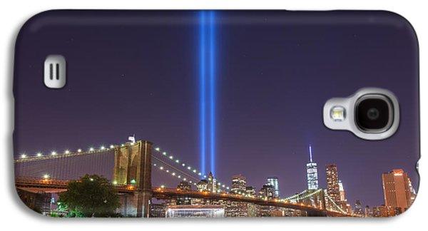 Manhatan Galaxy S4 Cases - Brooklyn Bridge At Night Galaxy S4 Case by Michael Ver Sprill