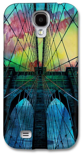 Architectural Digital Art Galaxy S4 Cases - Psychedelic Skies Galaxy S4 Case by Az Jackson