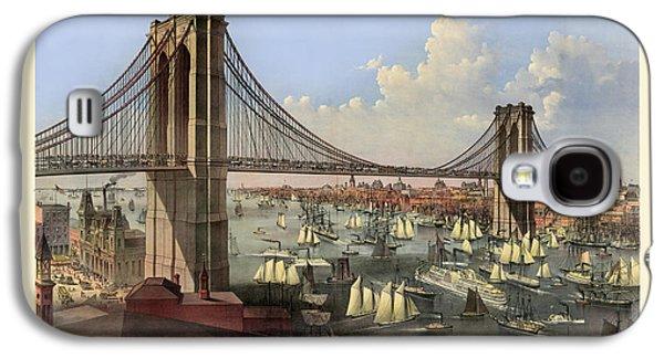 Digital Galaxy S4 Cases - Brooklyn Bridge Galaxy S4 Case by Gary Grayson