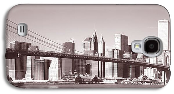 Twin Towers Nyc Galaxy S4 Cases - Brooklyn Bridge, Hudson River, Nyc, New Galaxy S4 Case by Panoramic Images