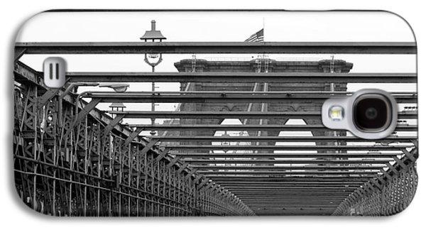 Surtex Licensing Galaxy S4 Cases - Brooklyn Bridge Black and White Photography Galaxy S4 Case by Anahi DeCanio - ArtyZen Studios