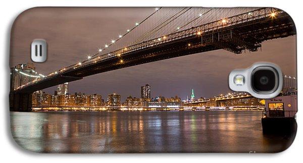 Leslie Leda Galaxy S4 Cases - Brooklyn Bridge Lights Galaxy S4 Case by Leslie Leda