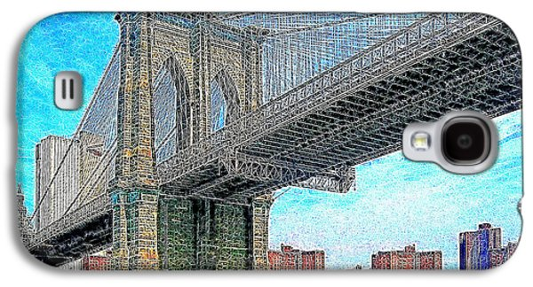 Manhatten Galaxy S4 Cases - Brooklyn Bridge New York 20130426 Galaxy S4 Case by Wingsdomain Art and Photography