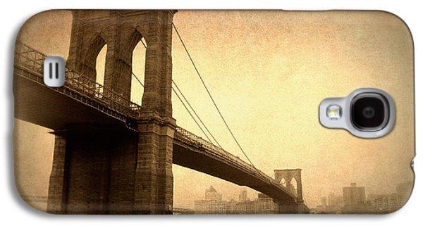 Brooklyn Bridge Digital Galaxy S4 Cases - Brooklyn Bridge Nostalgia II Galaxy S4 Case by Jessica Jenney