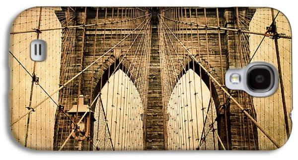 Brooklyn Bridge Digital Galaxy S4 Cases - Brooklyn Bridge Nostalgia Galaxy S4 Case by Jessica Jenney