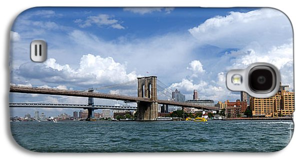 Landmark Photographs Galaxy S4 Cases - Brooklyn Bridge Panorama Galaxy S4 Case by Amy Cicconi
