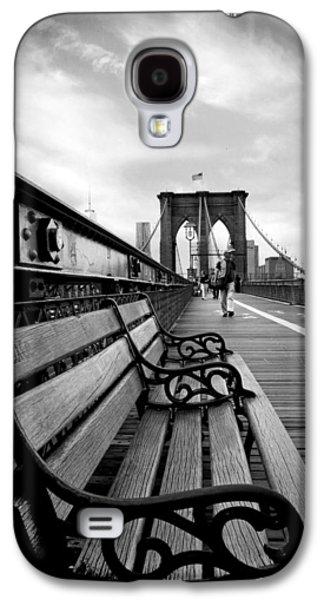 Brooklyn Bridge Digital Galaxy S4 Cases - Brooklyn Bridge Promenade Galaxy S4 Case by Jessica Jenney