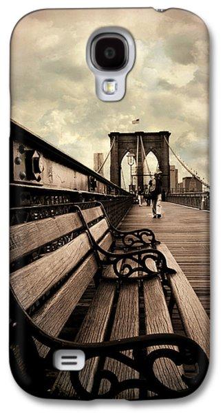 Brooklyn Bridge Digital Galaxy S4 Cases - Brooklyn Bridge Respite Galaxy S4 Case by Jessica Jenney