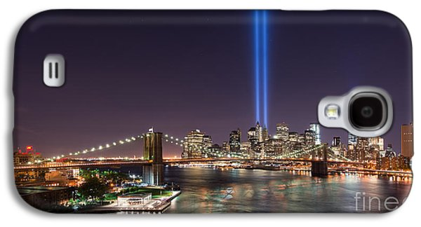 Manhatan Galaxy S4 Cases - Brooklyn Bridge September 11 wide crop Galaxy S4 Case by Michael Ver Sprill