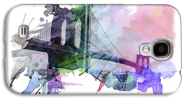 Abstract Digital Mixed Media Galaxy S4 Cases - Brooklyn Bridge Galaxy S4 Case by Stefan Kuhn