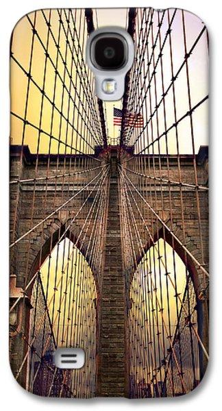 Brooklyn Bridge Digital Galaxy S4 Cases - Brooklyn Bridge Sunrise Galaxy S4 Case by Jessica Jenney