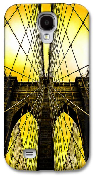 Brooklyn Bridge Yellow Galaxy S4 Case by Az Jackson