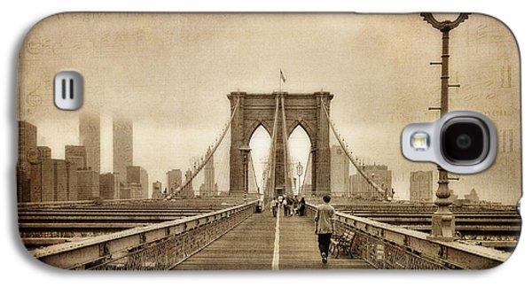 Twin Towers Nyc Galaxy S4 Cases - Brooklyn Memoirs Galaxy S4 Case by Joann Vitali