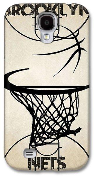 3 Pointer Galaxy S4 Cases - Brooklyn Nets Court Galaxy S4 Case by Joe Hamilton