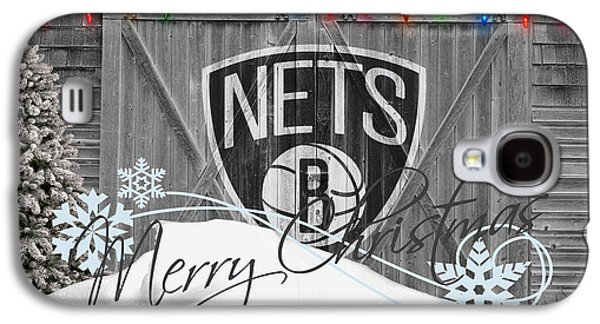 Brooklyn Nets Galaxy S4 Case by Joe Hamilton