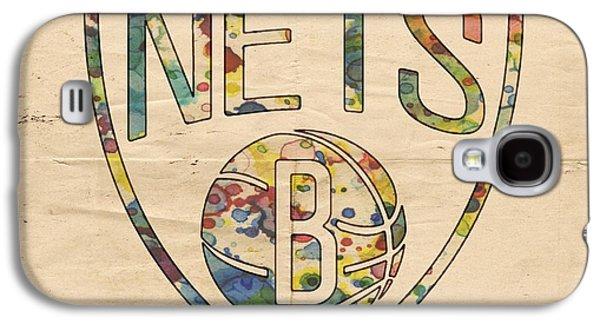 Brooklyn Nets Logo Art Galaxy S4 Case by Florian Rodarte