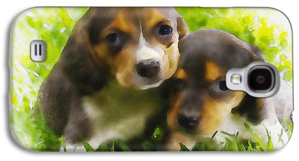 Puppy Digital Art Galaxy S4 Cases - Brothers In Arm Galaxy S4 Case by Don Kuing
