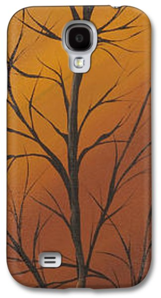 Landscape Acrylic Prints Galaxy S4 Cases - Brown autumn Galaxy S4 Case by Roni Ruth Palmer