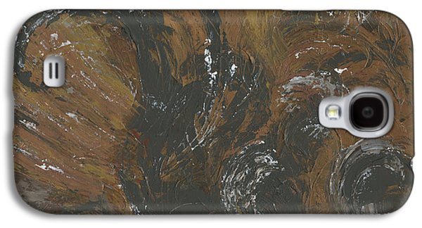 Disorder Paintings Galaxy S4 Cases - Brown Color of Energy Galaxy S4 Case by Ania Milo