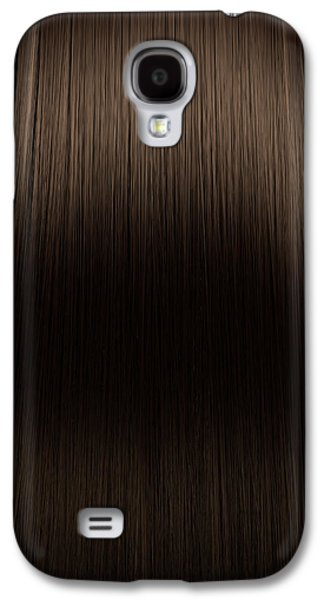 Wavy Galaxy S4 Cases - Brown Hair Perfect Straight Galaxy S4 Case by Allan Swart