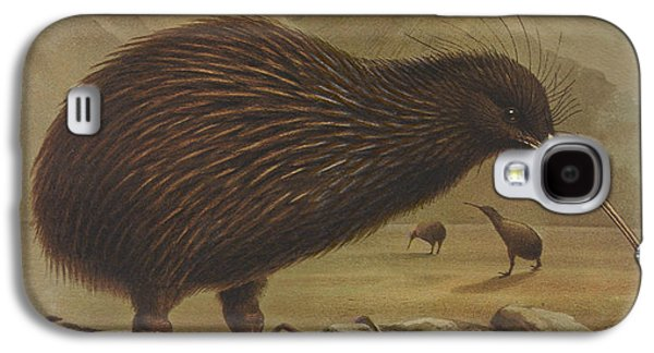 Brown Kiwi Galaxy S4 Case by J G Keulemans