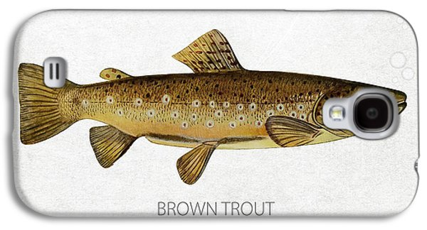 Caught Galaxy S4 Cases - Brown Trout Galaxy S4 Case by Aged Pixel
