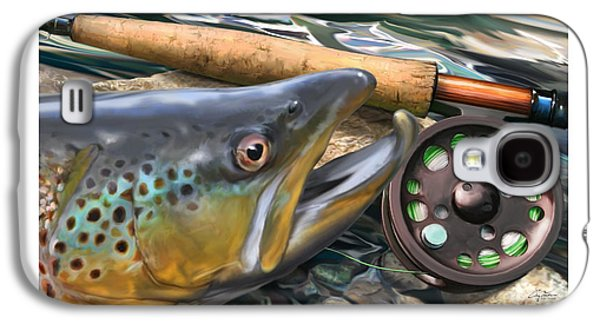 Brown Trout Sunset Galaxy S4 Case by Craig Tinder