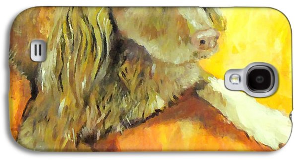 Puppies Digital Art Galaxy S4 Cases - Brownie Galaxy S4 Case by Marcello Cicchini