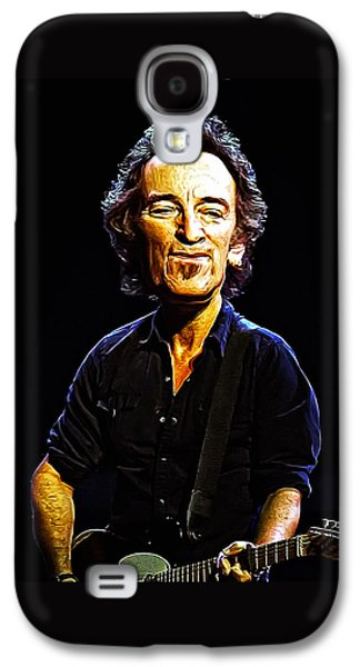 Bruce Springsteen Digital Galaxy S4 Cases - Bruce Galaxy S4 Case by Bill Cannon