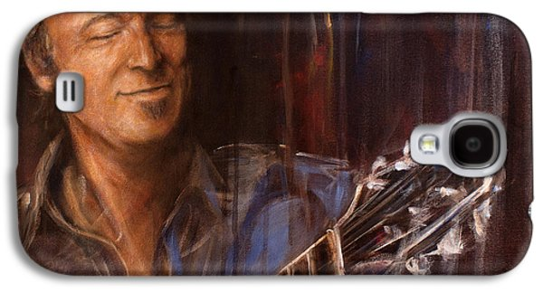 Bruce Springsteen Paintings Galaxy S4 Cases - Bruce Galaxy S4 Case by Josh Hertzenberg