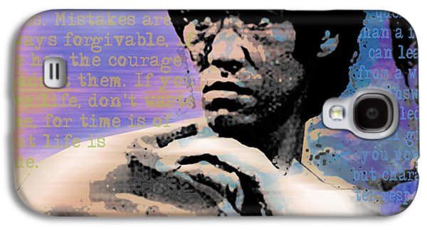 Recently Sold -  - Jet Star Galaxy S4 Cases - Bruce Lee and Quotes Square Galaxy S4 Case by Tony Rubino