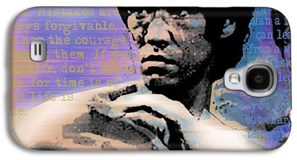Jet Star Galaxy S4 Cases - Bruce Lee and Quotes Square Galaxy S4 Case by Tony Rubino
