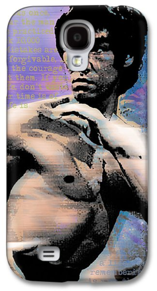 Recently Sold -  - Jet Star Galaxy S4 Cases - Bruce Lee and Quotes Galaxy S4 Case by Tony Rubino