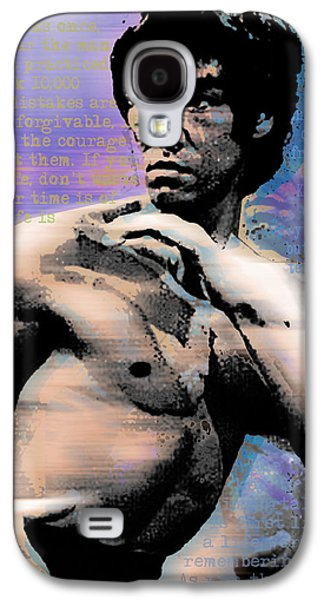 Jet Star Galaxy S4 Cases - Bruce Lee and Quotes Galaxy S4 Case by Tony Rubino