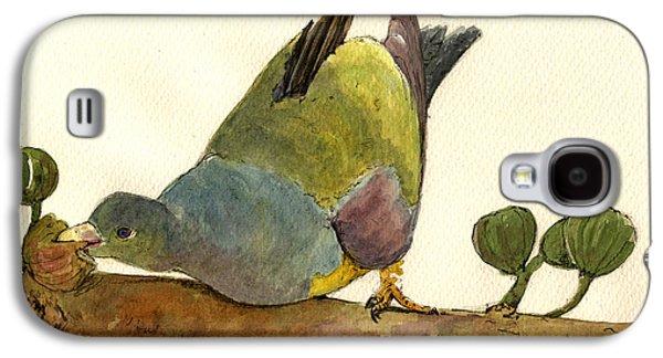 Bruce S Green Pigeon Galaxy S4 Case by Juan  Bosco