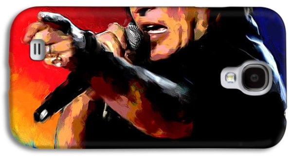 Bruce Springsteen Paintings Galaxy S4 Cases - Bruce Springsteen Galaxy S4 Case by Allen Glass