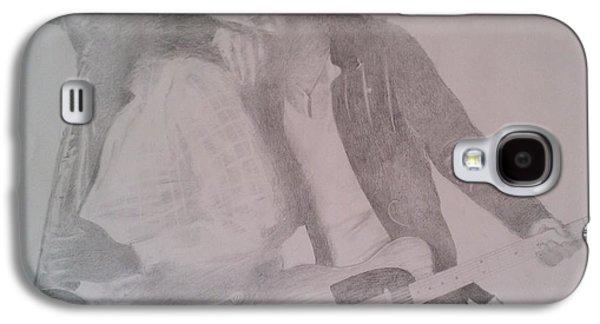 Bruce Springsteen Drawings Galaxy S4 Cases - Bruce Springsteen And Clarence Clemons Galaxy S4 Case by Jami Cirotti