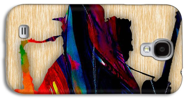 Bruce Springsteen Mixed Media Galaxy S4 Cases - Bruce Springsteen and Clarence Clemons Galaxy S4 Case by Marvin Blaine